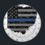 """Ohio Police &amp; Law Enforcement Thin Blue Line Dartboard<br><div class=""""desc"""">See our Police Gear store on Zazzle as we also have Law Enforcement shirts for women, Law Enforcement shirts for men, Police Dad gifts, Police Mom gifts, Police gifts for men, Police gifts for women, Police t shirts funny, Deputy Sheriff gifts among other Law Enforcement gifts. This Police T Shirt...</div>"""