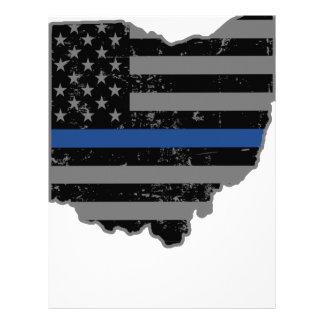 Ohio Police & Law Enforcement Thin Blue Line Letterhead