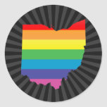 ohio pride. round sticker