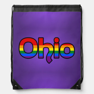 Ohio Rainbow text Backpack