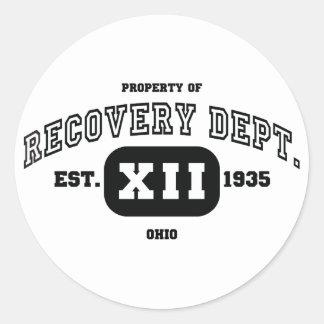 OHIO Recovery Classic Round Sticker