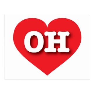 Ohio Red Heart - Big Love Postcard