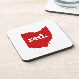 OHIO RED STATE COASTER