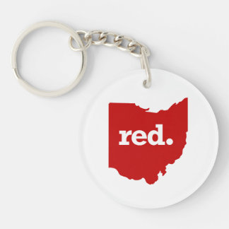 OHIO RED STATE KEYCHAIN