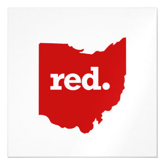 OHIO RED STATE MAGNETIC CARD