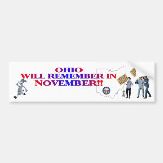 Ohio - Return Congress To The People!! Bumper Stickers