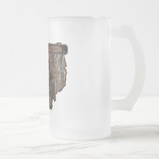 OHIO Rig Up Camo Frosted Glass Beer Mug