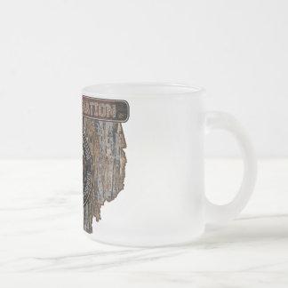 OHIO Rig Up Camo Frosted Glass Coffee Mug