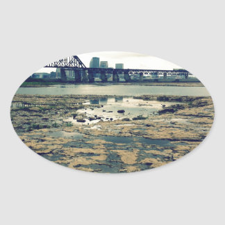 Ohio River Fossil Beds Oval Sticker