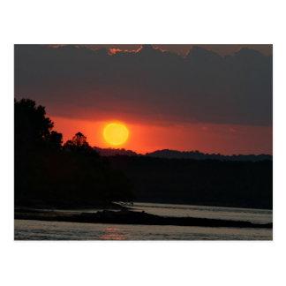 Ohio River sunset Postcard