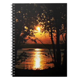 Ohio River sunset Spiral Notebook