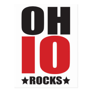 Ohio Rocks! State Spirit Gifts and Apparel Postcard