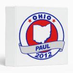 Ohio Ron Paul Vinyl Binder