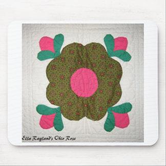 Ohio Rose Quilt block mousepad