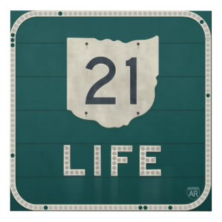 Ohio Route 21 Life Panel Wall Art