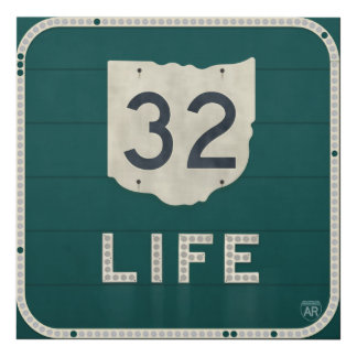 Ohio Route 32 Life Panel Wall Art