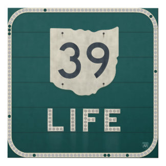 Ohio Route 39 Life Panel Wall Art