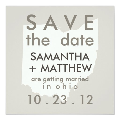 Ohio Save the Date Cards