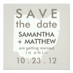 "Ohio Save the Date Cards 5.25"" Square Invitation Card"