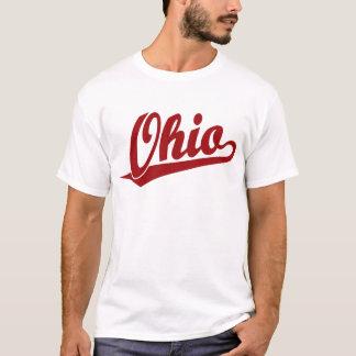 Ohio script logo in red T-Shirt