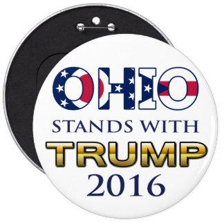 Ohio se coloca con el botón del triunfo 2016 pin redondo de 6 pulgadas