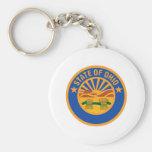 Ohio Seal Basic Round Button Keychain
