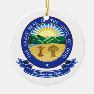 Ohio Seal Ceramic Ornament