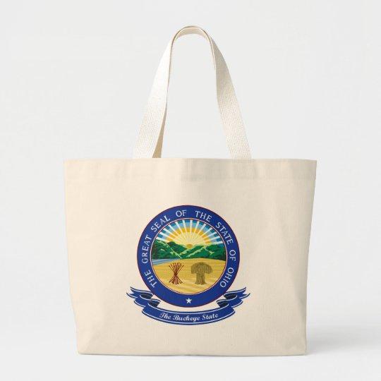 Ohio Seal Large Tote Bag