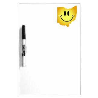 Ohio Smiley Face Dry Erase Whiteboards