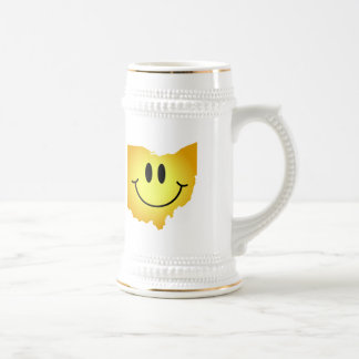 Ohio Smiley Face 18 Oz Beer Stein