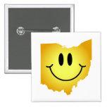 Ohio Smiley Face Pin