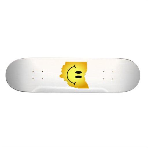 Ohio Smiley Face Skate Board