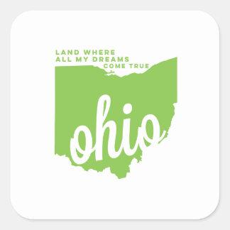 ohio | song lyrics | apple green square sticker