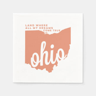 ohio | song lyrics | peach paper napkin