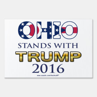 Ohio Stands With Trump 2016 yard sign