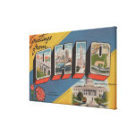 Ohio (State Capital/Flower) - Large Letter Scene Gallery Wrapped Canvas