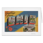 Ohio (State Capital/Flower) - Large Letter Scene Greeting Cards