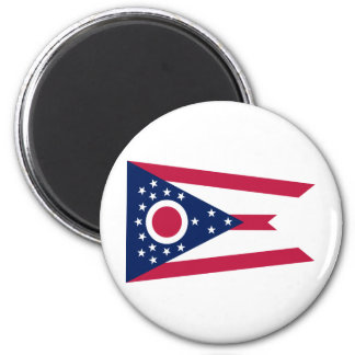 Ohio State Flag 2 Inch Round Magnet