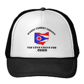 Ohio state flag and map designs trucker hat
