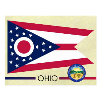 Ohio State Flag and Seal Postcard