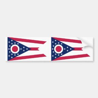 Ohio State flag Bumper Sticker