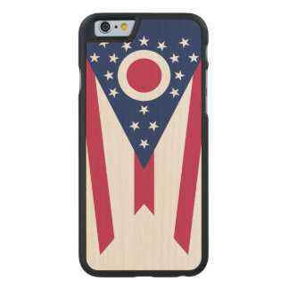 Ohio State Flag Carved Maple iPhone 6 Slim Case