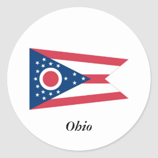 Ohio State Flag Classic Round Sticker