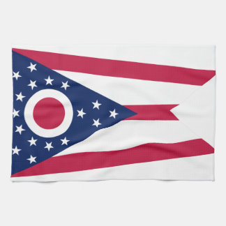 Ohio State Flag Hand Towels