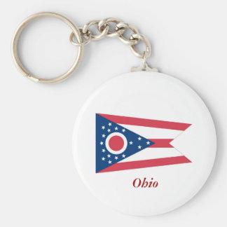Ohio State Flag Keychain