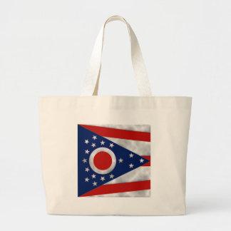 Ohio State Flag Large Tote Bag