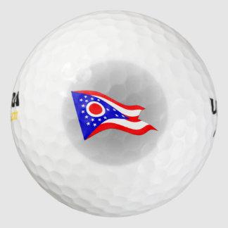 Ohio State Flag logo Golf Balls