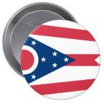 Ohio State Flag Pinback Button