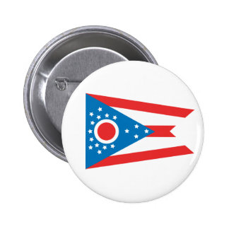 Ohio State Flag Pinback Buttons