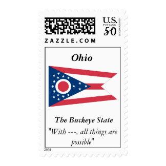 Ohio State Flag Postage